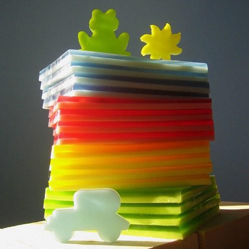 Mýdlové pláty dvouvrstvé_malé 2 ks