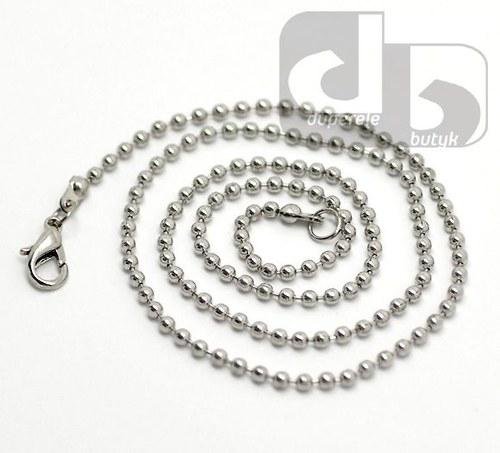 Stříbrný kuličkový řetízek 51 cm