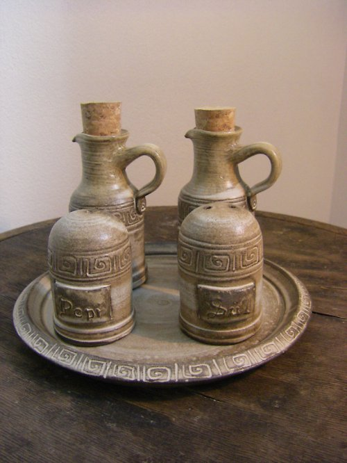 Dochucovací souprava olej-ocet-sůl-pepř