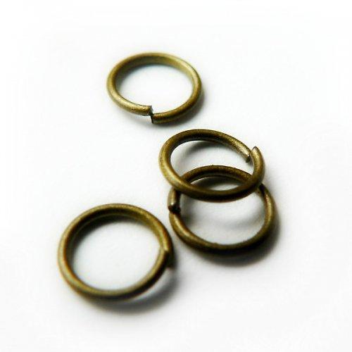 spojovací kroužky bronz 6mm - 40ks