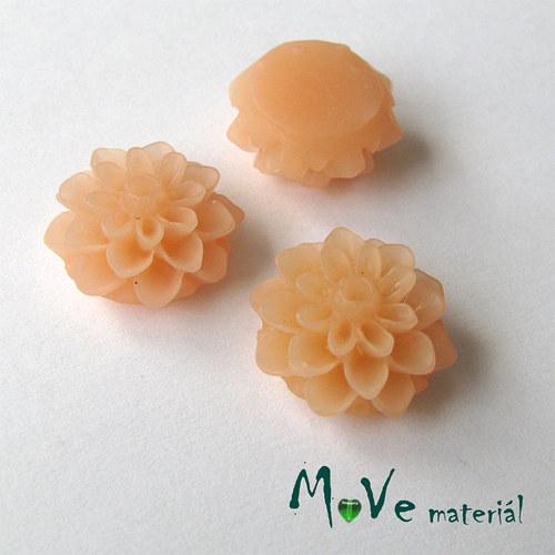 Kabošon květ transparent A6 - resin-2ks, broskvový