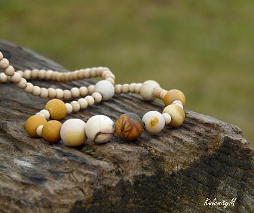 MookaitoYellow - náhrdelník z jaspisu