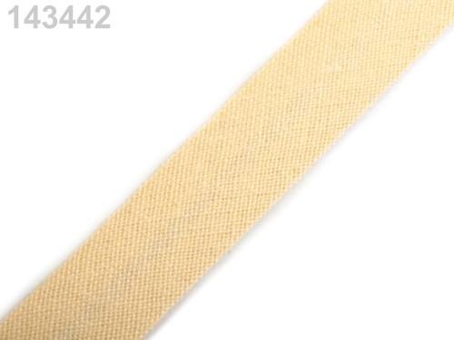 Šikmý proužek 14 mm zažehlený (5m) - Vanilla Custa