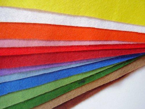 Sada  filců 14 barev, 20x30 cm