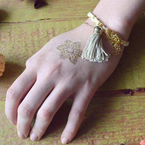 Leather bangle - náramek v boho stylu