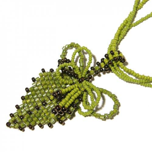 náhrdelník ...lístečku zelený...