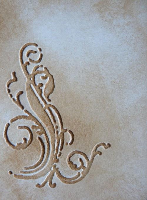 Embossovaný polotovar  - ornament