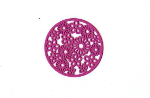 Měděné kolečko - 20mm růžovofialové