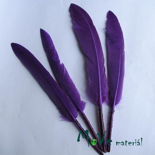 Ozdobné kachní peří délka 120-140mm, 4ks fialové