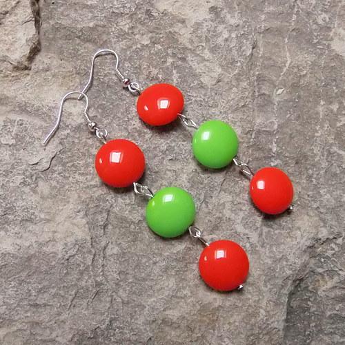 Zelená a červená