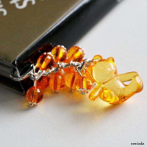 Záložka do knihy medvídek oranžový
