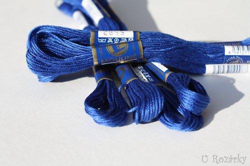 Vyšívací příze Mouline - královsky modrá