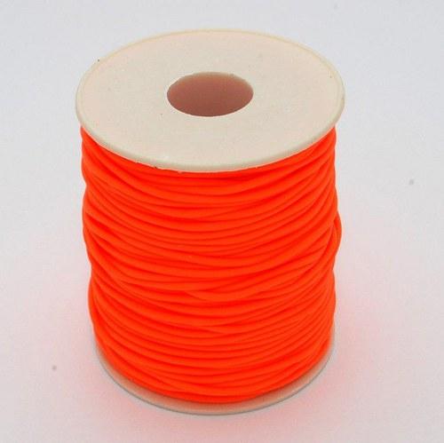 Oranžová šňůrka / 2 mm