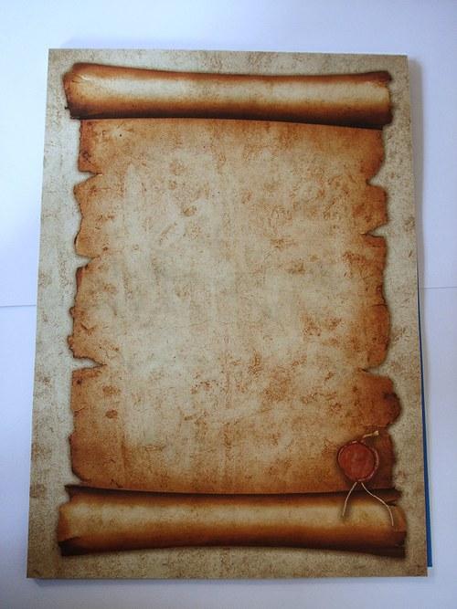 Papír - natištěný pergamen s pečetí