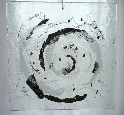 Spirála  -  skleněný kachel