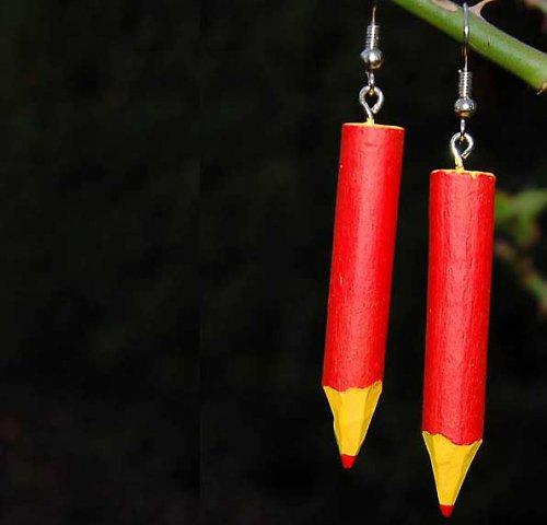 Tužtičkové náušnice pro milovnice barev