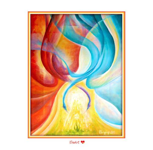 14. Anděl světla - samolepka