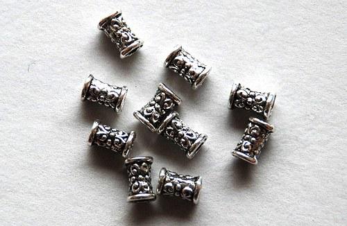 10ks kovový korálek 5x7mm