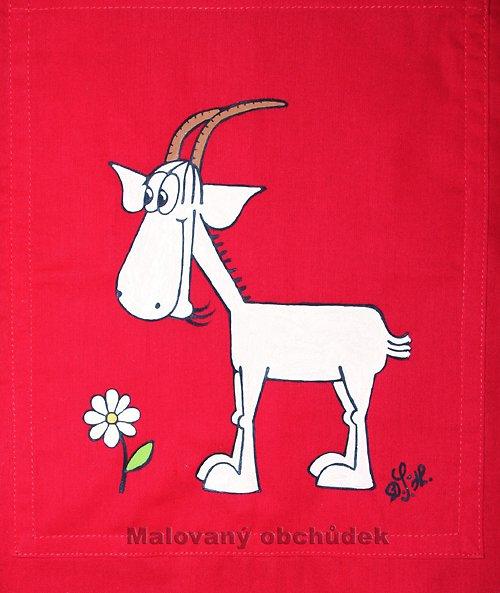 Malovaná taška s mlsnou kozou Evelínou