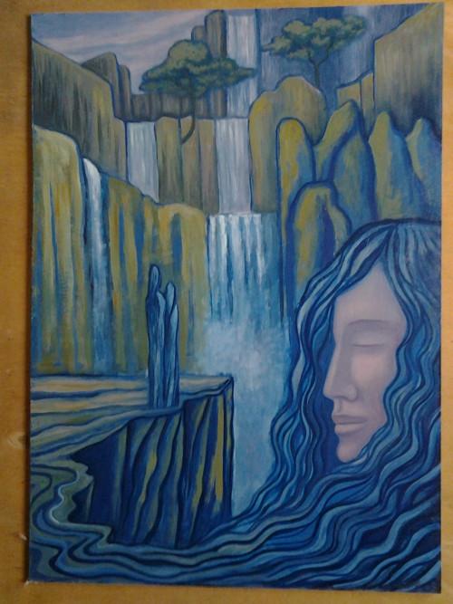 Milenci u vodopádu