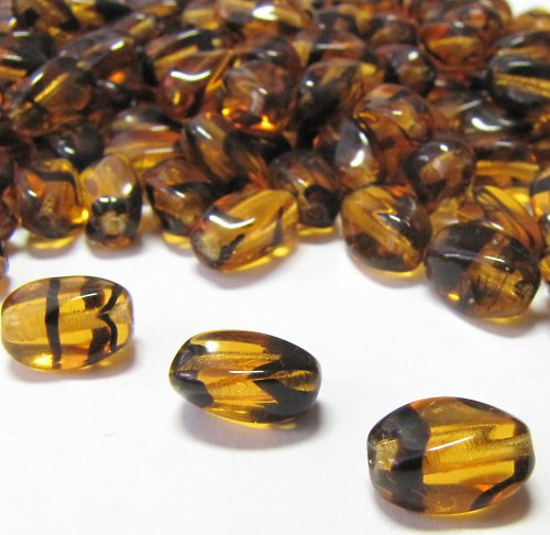 Medové korálky 8,5 mm 14 ks