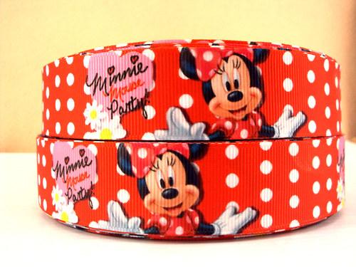 Stuha rypsová š.25 mm: Minnie Mouse Party