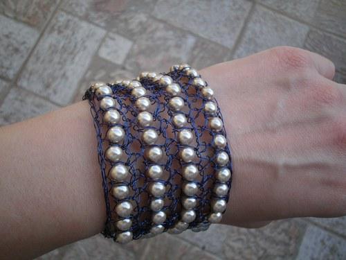 Háčkované perličky - sleva