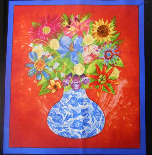 Květiny ve váze- velký panel