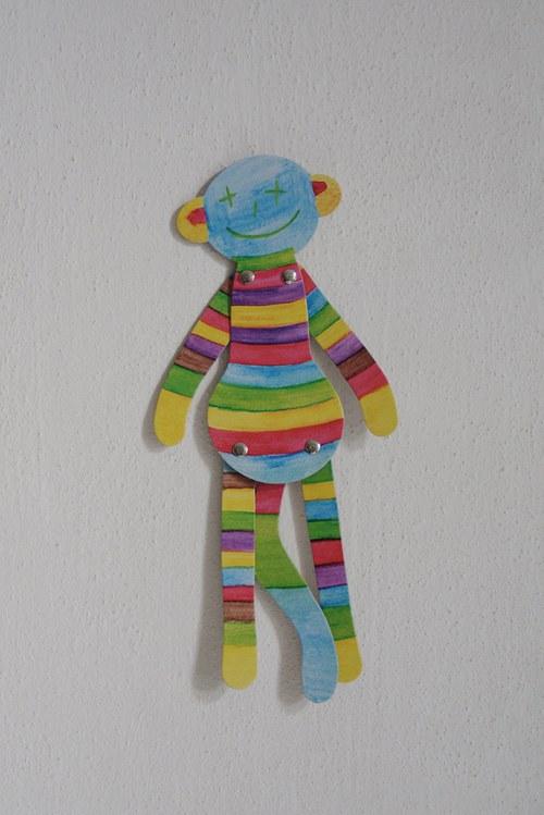 Opice na stěnu - Duhová