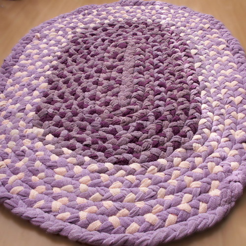kobereček - hadrák - spletený -  oválný - fialový