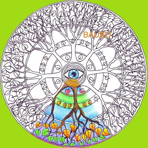 Strom života -vyfarbovacia mandala