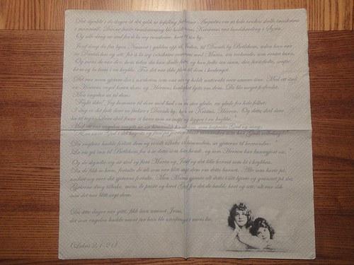 Ubrousek na decoupage - dopis andělům