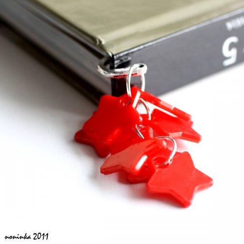 červená hvězda  - záložka do knihy