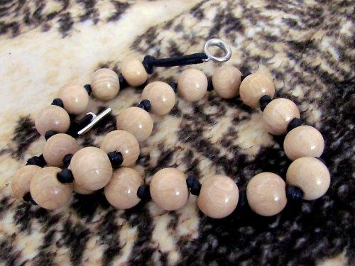 Extravagantní dřevěný náhrdelník