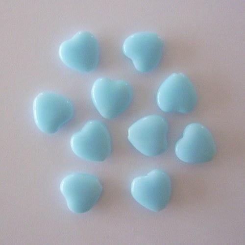 Mačkaná perle - srdíčko modré
