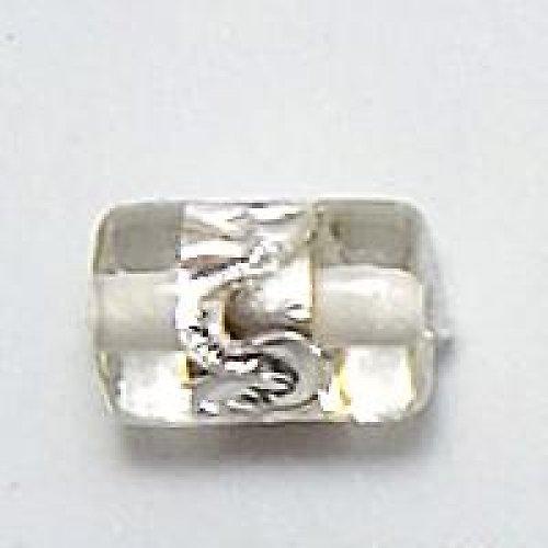 Váleček stříbrná folie 12×8mm bílá