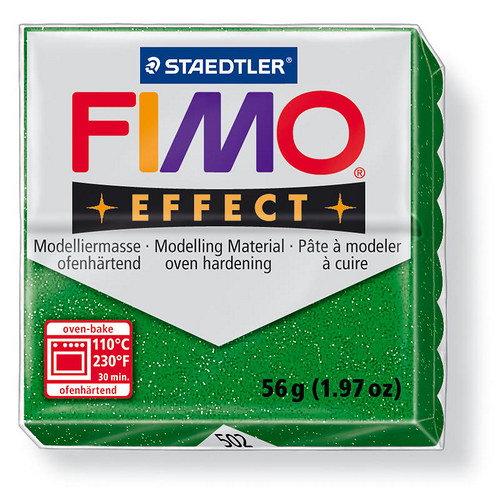 Fimo effect třpytivá zelená 502