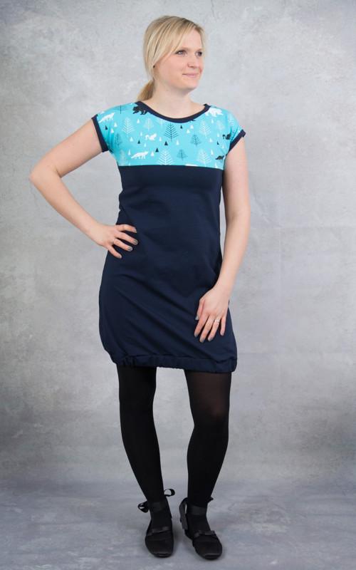 Šaty modré polární
