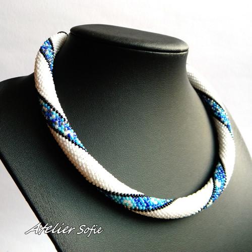náhrdelník Spirála modrá