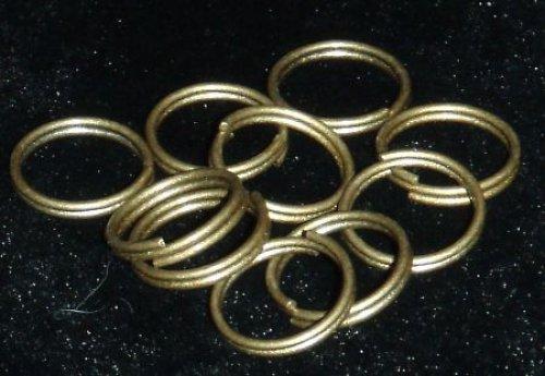 Spojovací kroužky dvojité bronz 9 mm 17ks