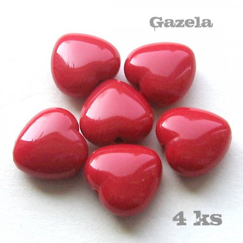 Srdíčka červená - 4 ks