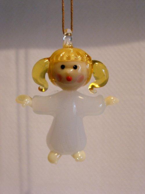 Anděl závěsný s culíkama
