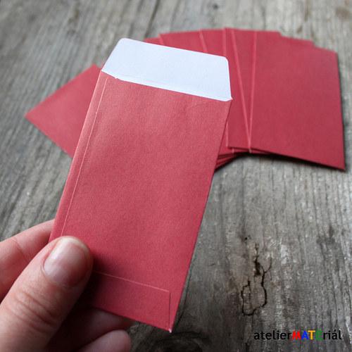 Papírové pytlíčky 10ks - červené