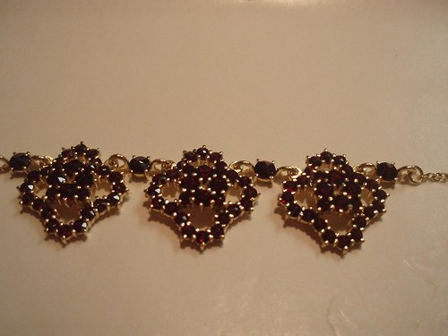 Pravé české granáty - náhrdelník
