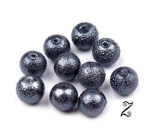 Zigana, šedá hematit, 8 mm (20ks)