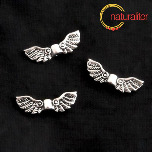 Křídla - kovový korálek 22x7mm, 2ks