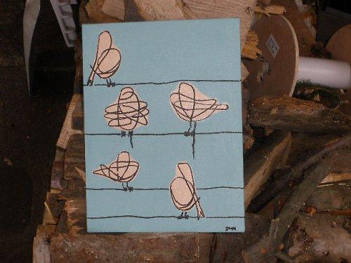 Ptáci na šňůře - Birds on the line