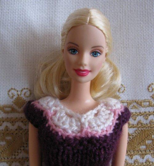 Barbie - šaty borůvkové