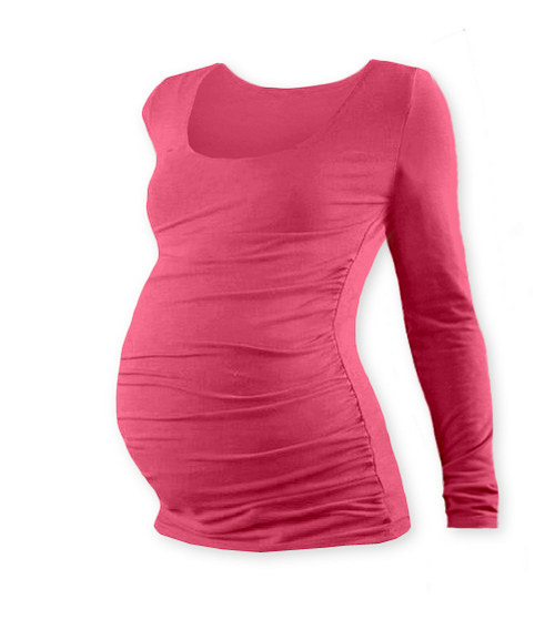 Těhotenské tričko DR lososově růžové