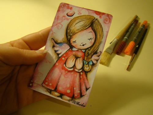 Ilustrace andělské panenky/ Originál